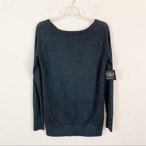 LOFT • Gray Textured Wool Blend Sweater Medium